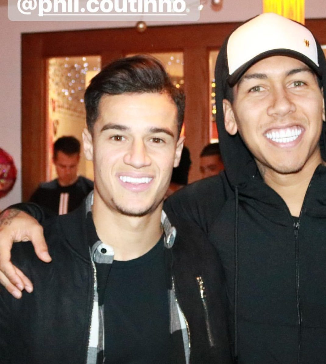 Philippe Coutinho and Roberto Firmino formed a close bond while at Liverpool together
