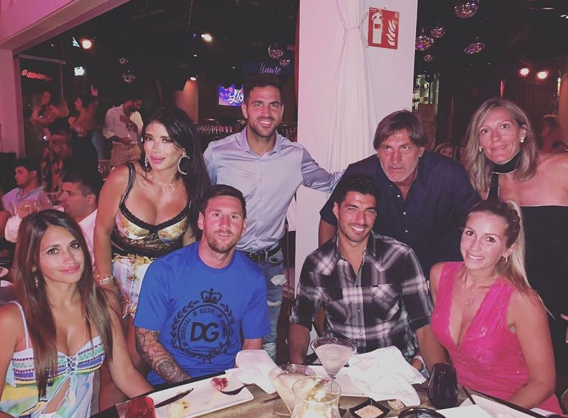 Lionel Messi, Cesc Fabregas, Luis Suarez and their wives have become close friends and regularly holiday together